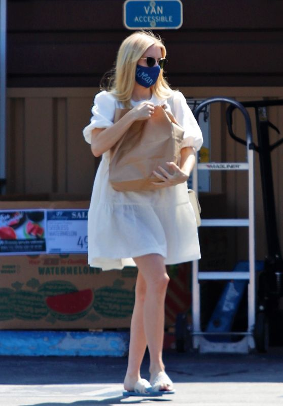 Emma Roberts - Grocery Shopping in LA 07/25/2020