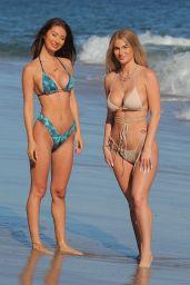 Francesca Farago and Haley Cureton at the Beach 07/17/2020