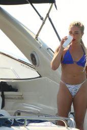 Gabby Allen in a Blue Bikini - Ibiza 07/25/2020
