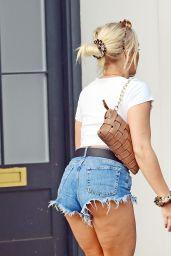 Gabby Allen Wearing Daisy Dukes - London 07/18/2020