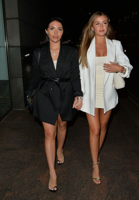 Georgia Steel and Chloe Brockett - Roka Restaurant in London 07/24/2020