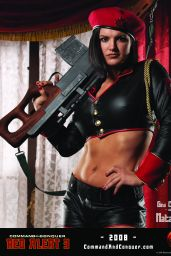 """Gina Carano - """"Command & Conquer: Red Alert 3"""" Promoshoot and Wallpapers"""