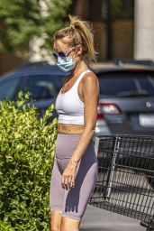 Hayley Roberts in Workout Outfit - Grocery Shopping in Calabasas 07/28/2020
