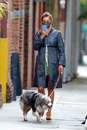 Helena Christensen - Walking Her Dog in NYC 07/10/2020