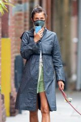 Helena Christensen - Walking Her Dog in NYC 07/10/2020