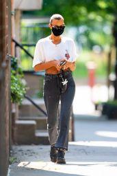 Irina Shayk Street Style - Out in New York City 07/25/2020