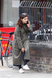 Jenna Coleman Talking on Her Phone - London 06/30/2020