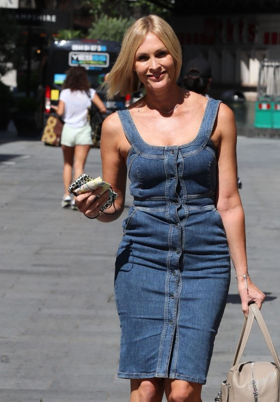 Jenni Falconer in a Denim Dress - London 07/17/2020