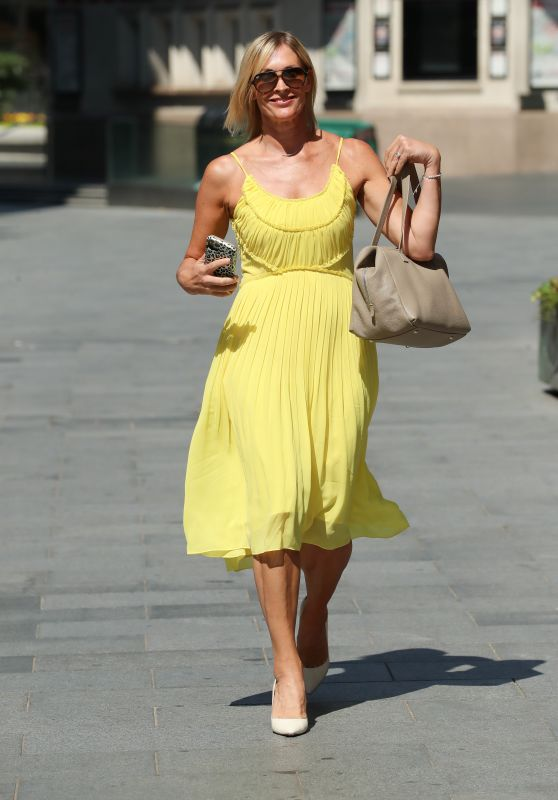 Jenni Falconer in a Yellow Summer Dress 06/26/2020