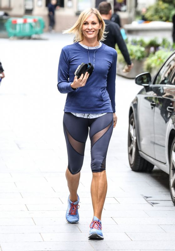 Jenni Falconer in Leggings - Departing the Global Radio Studios in London 06/30/2020