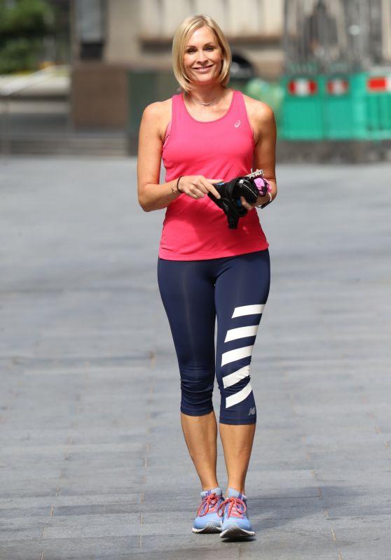 Jenni Falconer in Leggings - Leaving the Global Studios in London 07/13/2020