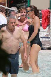 Jennifer Garner in a Black Swimsuit at Legoland in CA 07/22/2020