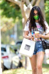 Jessica Gomes Leggy in Shorts - LA 07/16/2020
