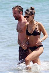 Jordana Brewster in a Bikini at the Beach in Santa Monica 07/25/2020