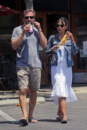 Jordana Brewster - Shopping in Santa Monica 07/25/2020