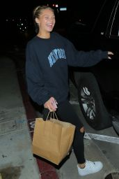 Josie Canseco in Comfy Outfit - Leaving Catch in West Hollywood 07/24/2020