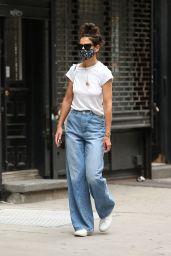 Katie Holmes Street Style - NYC 07/17/2020