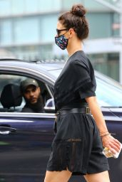 Katie Holmes With Face Mask - Soho in New York 07/15/2020