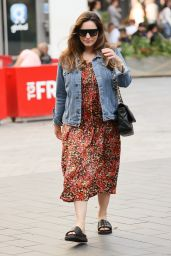 Kelly Brook in a Floral Dress - London 07/21/2020