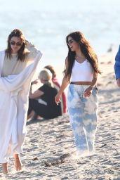 Kendall Jenner and Kourtney Kardashian - Beach in Malibu 07/16/2020