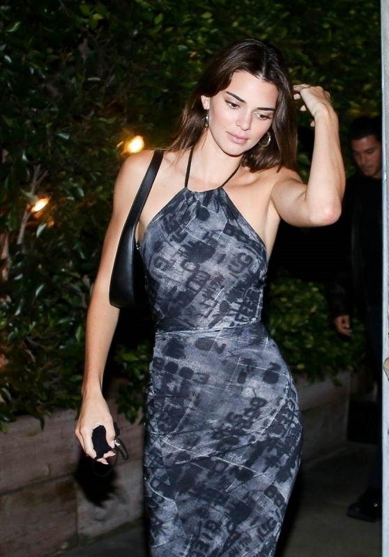 Kendall Jenner in a Print Dress at Giorgio Baldi in Santa Monica 07/24/2020