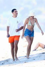 Kendall Jenner in Bikini Top - Malibu Beach 07/18/2020