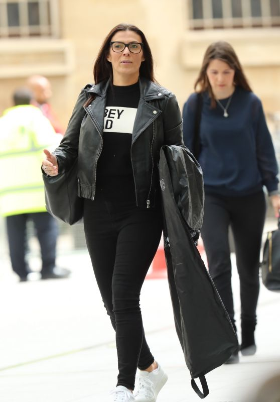 Kym Marsh in Casual Outfirt - Arriving at the BBC Studios in London 07/06/2020