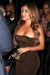 Larsa Pippen Night Out Style - Il Pastaio Restaurant in Beverly Hills 07/25/2020