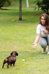 Lauren Goodger in a park in Essex 07/27/2020