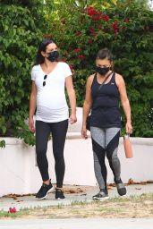 Lea Michele on Walk in Santa Monica 07/30/2020