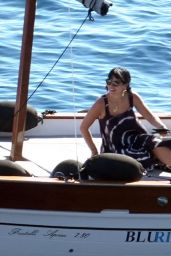 Lily Allen in an Animal Printed Bikini - Capri 07/27/2020