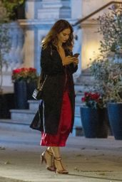 Lily James Night Out Style - London 07/06/2020