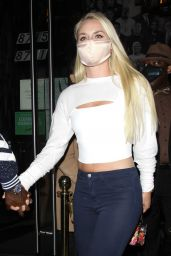 Lindsey Vonn and P.K. Subban at Catch Restaurant in West Hollywood 07/03/2020