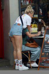 Lottie Moss Leggy in Cutoffs - London 07/22/2020
