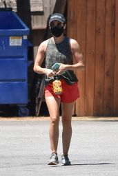 Lucy Hale - Hiking Session in Studio City 07/25/2020