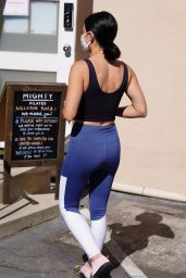 Lucy Hale in Workout Outfit - Arrives at a Pilates Studio in Los Angeles 07/03/2020