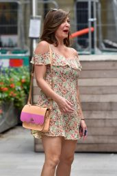 Lucy Horobin in Summer Mini Dress - Outside the Global Studios in London 07/17/2020