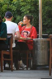 Madison Beer at Matsuhisa in Beverly Hills 07/27/2020