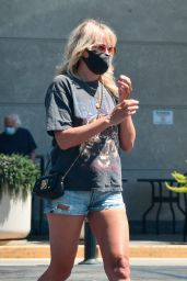 Malin Akerman in Jeans Shorts - Out in LA 07/12/2020