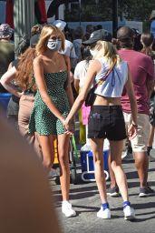 Margaret Qualley and Cara Delevingne - BLM Protest in LA 07/15/2020