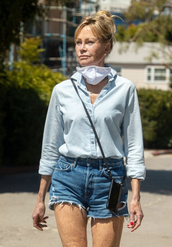 Melanie Griffith Wearing Daisy Dukes - Los Angeles 07/16/2020