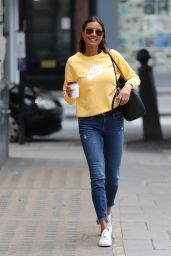 Melanie Sykes Street Style - Arriving at BBC Studios in London 07/18/2020