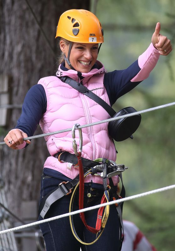 Michelle Hunziker at the Adventure Park in Colfoco 07/26/2020