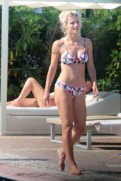 Michelle Hunziker in a Bikini at a Pool in Milano 07/03/2020
