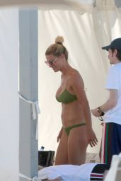 Michelle Hunziker in a Green Bikini 07/04/2020