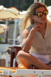Michelle Hunziker in Summer Outfit - Beach in Varigotti 06/19/2020