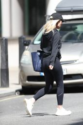 Mollie King Casual Style - Exit BBC Studios in London 07/05/2020