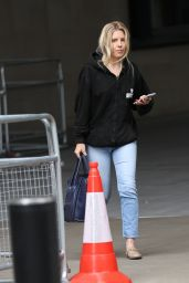 Mollie King in Denim Jeans and Casual Hoodie - London 07/25/2020