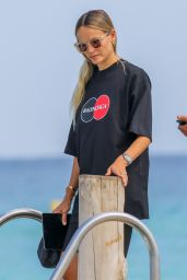 Natasha Poly at the Club 55 Beach in Saint-Tropez 07/28/2020
