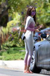 Nina Dobrev in Leggings - Out in Los Angeles 07/29/2020